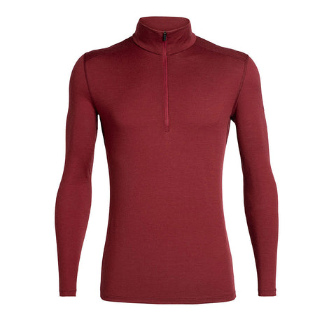 Icebreaker BASE LAYER Top Men's 200 Oasis LS 1/2 Zip Cabernet