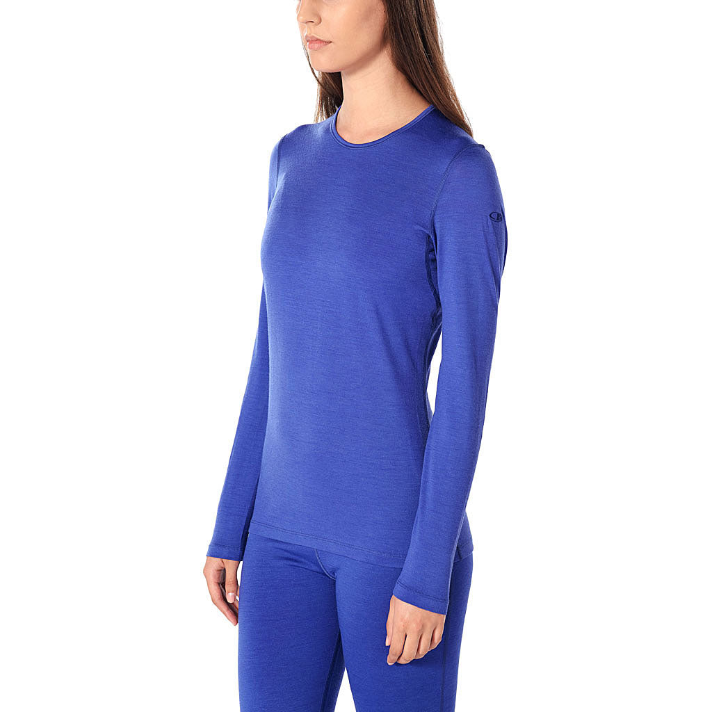 Icebreaker BASE LAYER Top Women's 200 Oasis LS Crewe Mystic