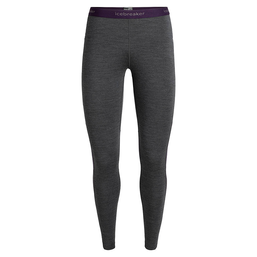 Icebreaker BASE LAYER Pants Women's 200 Zone Leggings Jet Heather/Lotus