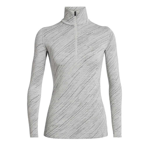 Icebreaker BASE LAYER Top Women's 250 Vertex LS Half Zip Snow Storm/Snow