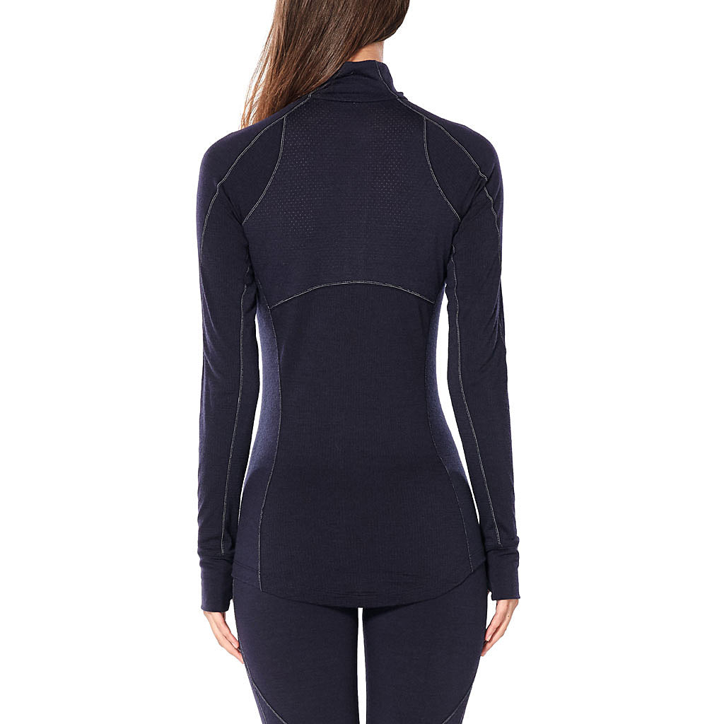 Icebreaker BASE LAYER Top Women's 260 Zone LS Half Zip Midnight Navy
