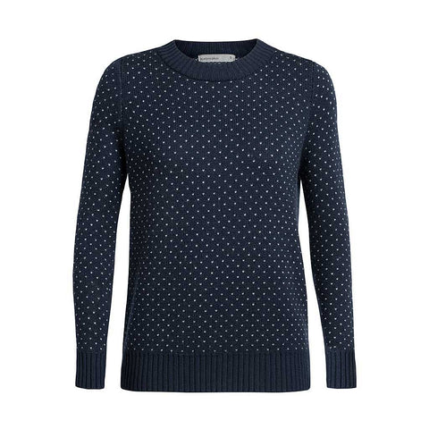 Icebreaker Top Women's Waypoint Crew Sweater Midnight Navy