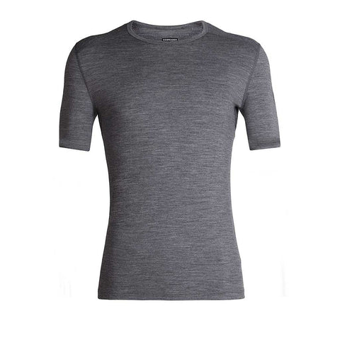 Icebreaker BASE LAYER Top Men's Oasis SS Crewe Gritstone Heather