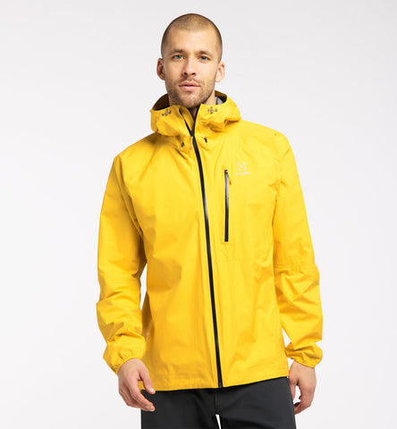Men's Haglofs L.I.M Waterproof Jacket - Yellow