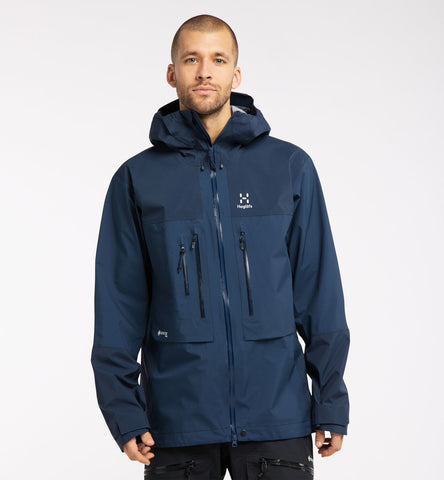 Men's Haglofs Roc Nordic GTX Pro Waterproof Jacket - Navy