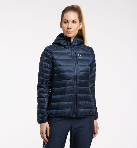 Women's Haglofs Roc Down Hood - Navy