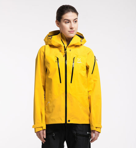 Women's Haglofs Spitz Waterproof Jacket - Yellow