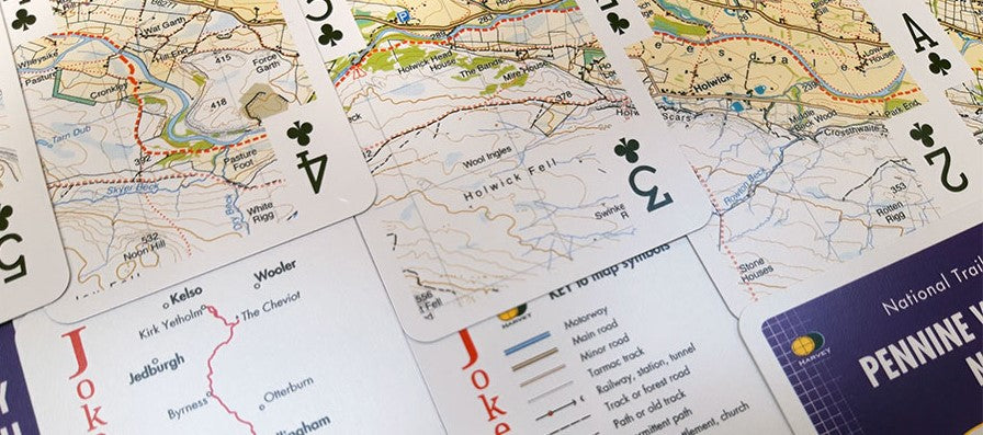 Harveys Playing Cards Pennine Way North
