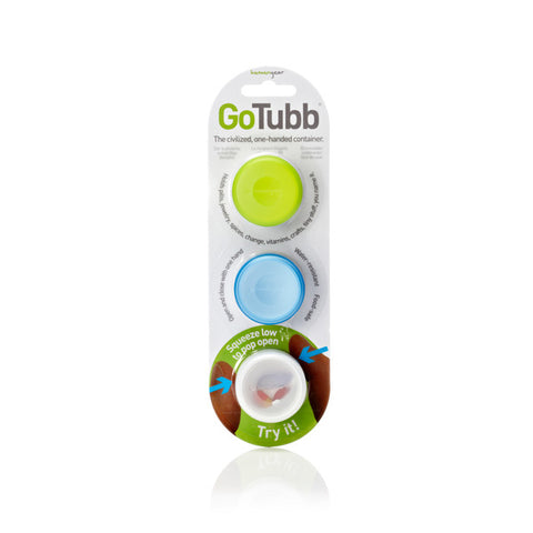 humangear GoTubb SMALL Small Clear/Green/Blue (3 Pack)