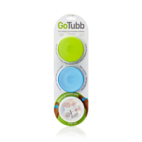 humangear GoTubb MEDIUM Clear/Green/Blue (3 Pack)