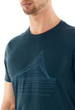 Men's Icebreaker Tech Lite SS T-Shirt Heating Up - Blue