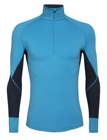 Men's Icebreaker 260 Zone LS Half Zip Base Layer - Blue