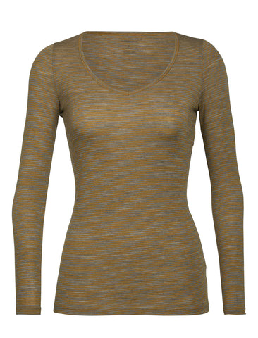 Women's Icebreaker Siren LS Sweetheart Base Layer - Yellow