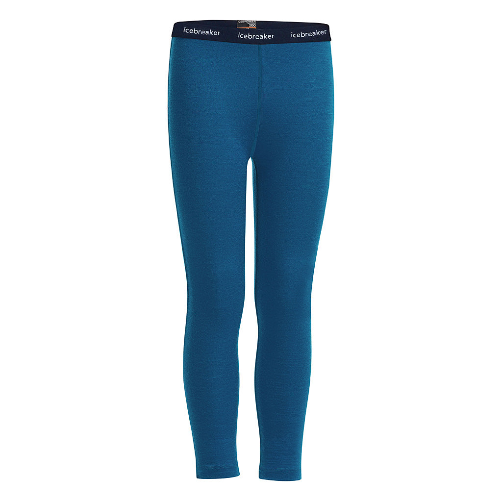 Icebreaker BASE LAYER Pant Kid's Oasis Leggings Prussian Blue