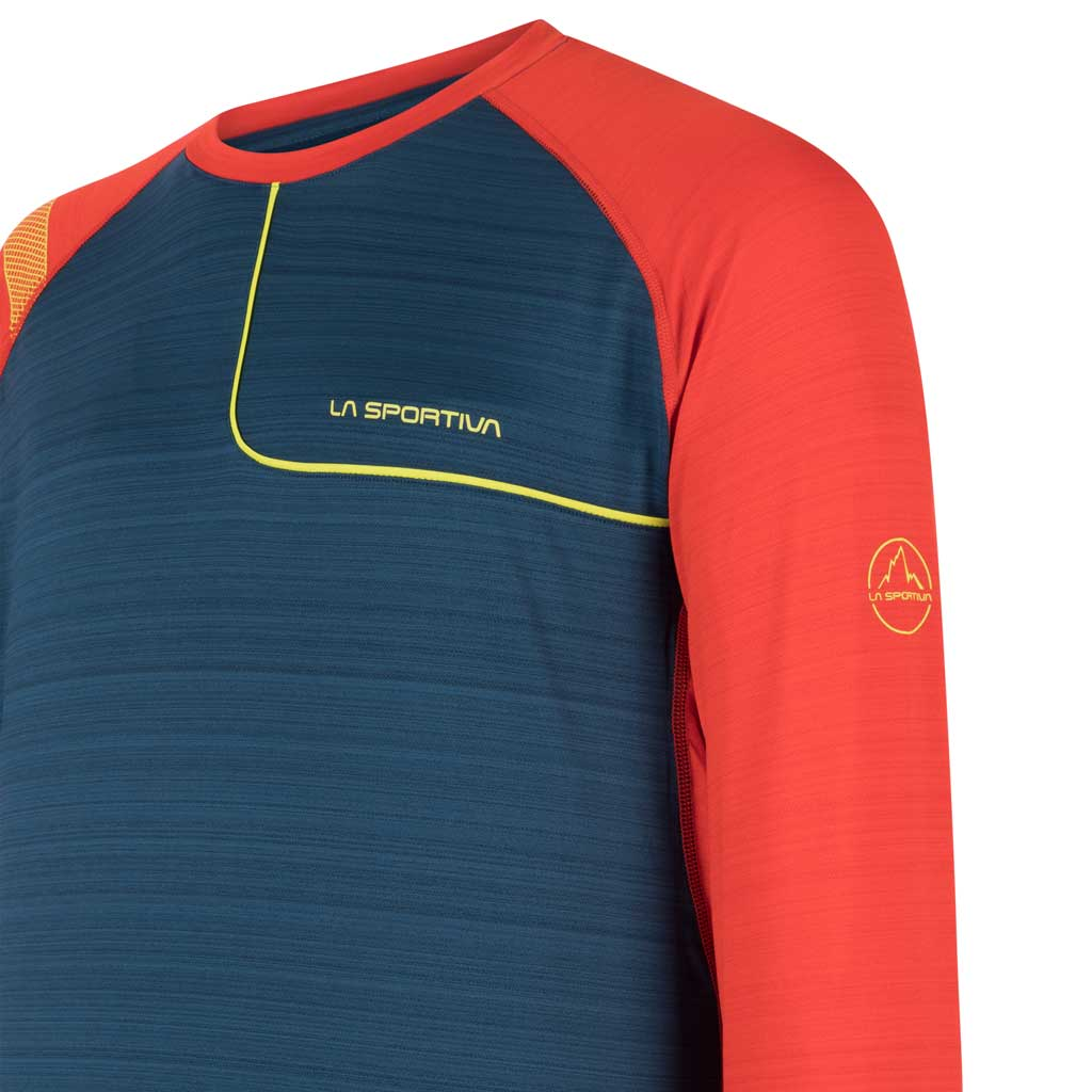 La Sportiva BASE LAYER Top Men's Tour Long Sleeve Opal/Poppy
