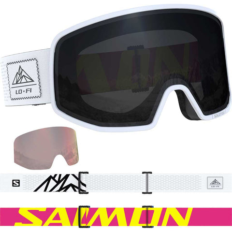 Salomon Ski Goggles LO FI Solar Black/White Cat 3