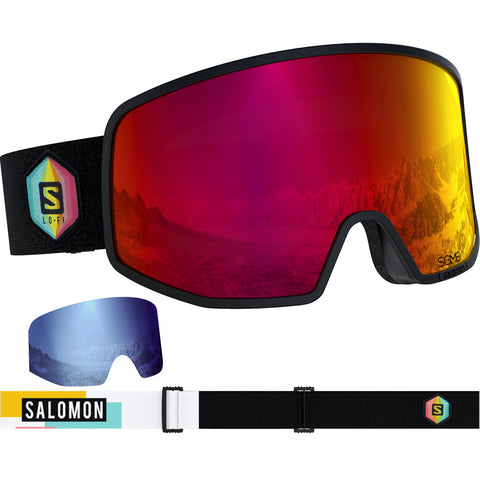 Salomon Ski Goggles LO FI SIGMA Black-Safran/Uni.Pop Cat 3