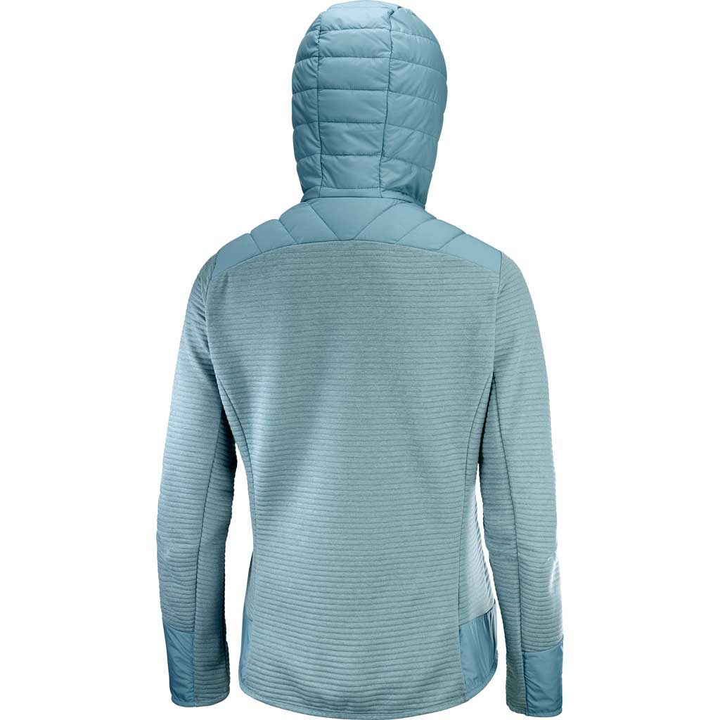 Salomon Top Women's Right Nice Hybrid Hoodie SMK Blue