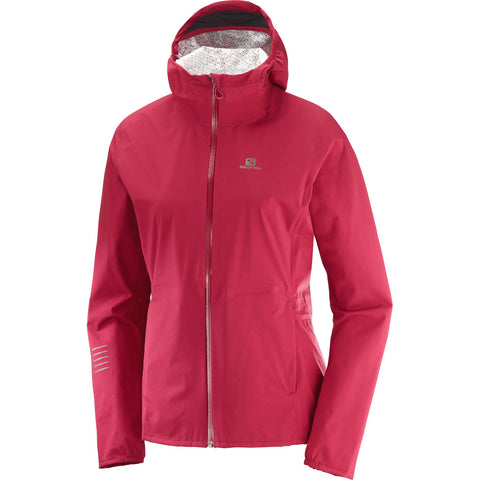 Salomon WATERPROOF Jacket Women's Lightning WP Rio Red
