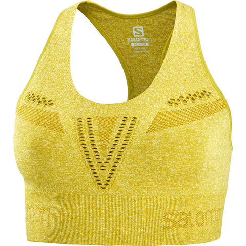 Salomon Top Women's Move'On Sports Bra Golden Palm