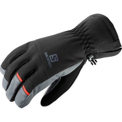 Salomon SKI Gloves Men's Propeller Dry Black/Galet Grey