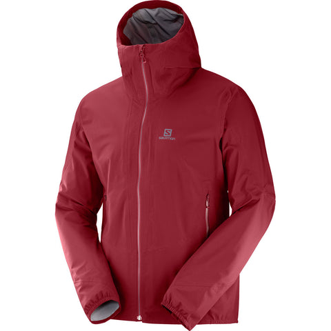 Salomon WATERPROOF Jacket Men's Outline 360 3L Biking Red