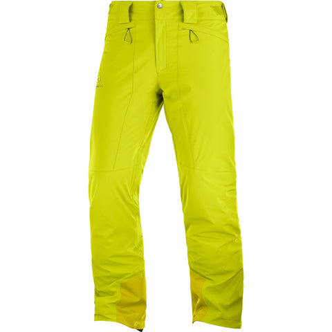 Salomon SKI Pants Men's Icemania SHORT Leg Trousers Citronelle
