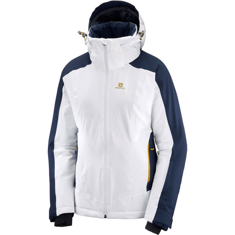 Salomon SKI Jacket Women's Brilliant White/Night Sky