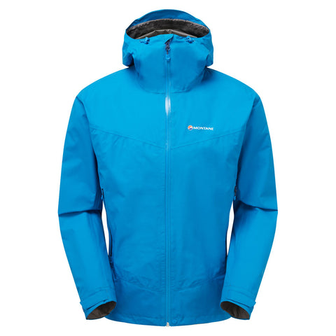 Montane WATERPROOF Jacket Men's Pac Plus Electric Blue/Antarctic