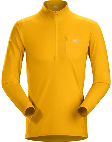 Men's Arc'teryx Rho LT Zip Neck - Gold