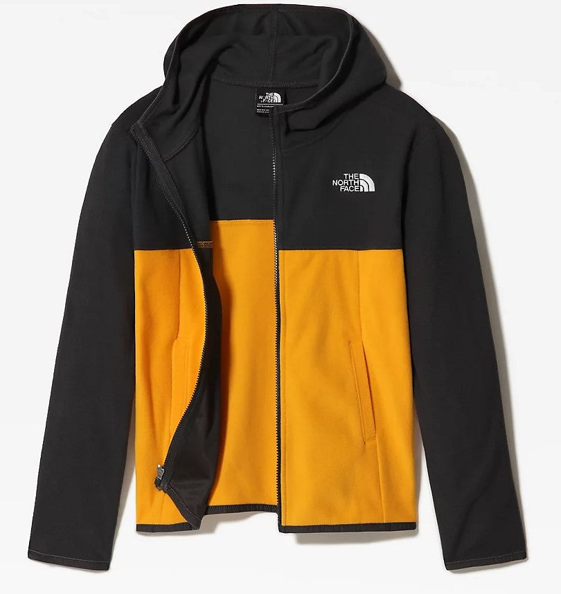 Boys North Face Glacier Full Zip Hoody Fleece - Yellow