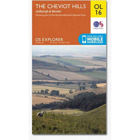 OS Explorer OL16 The Cheviot Hills Map