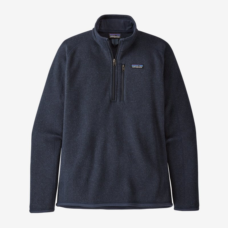 Men's Patagonia Better Sweater Quarter Zip Fleece - Navy