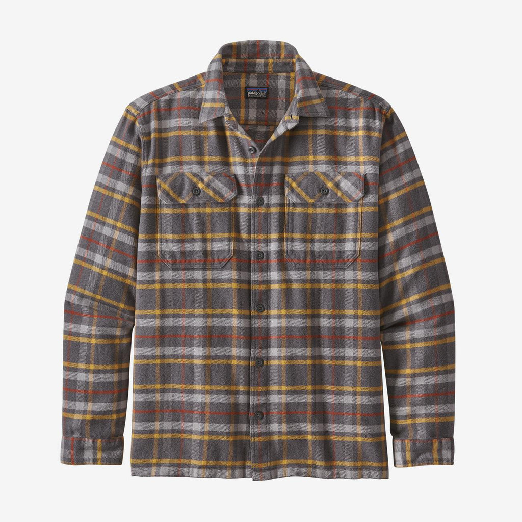 Patagonia Men's Fjord Flannel LS Shirt - Grey