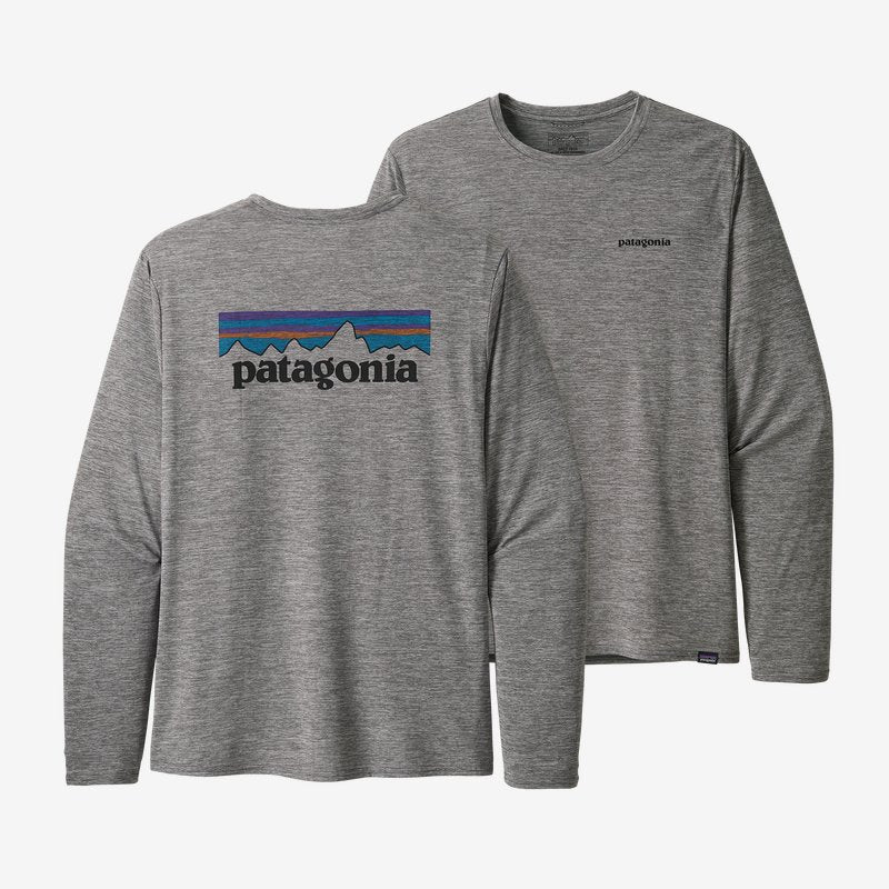 Men's Patagonia Cap Cool Graphic LS T-shirt - Grey