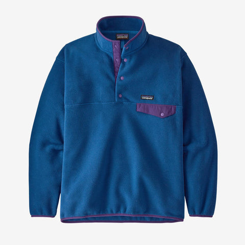 Men's Patagonia Synchchilla Snap T Pullover - Blue