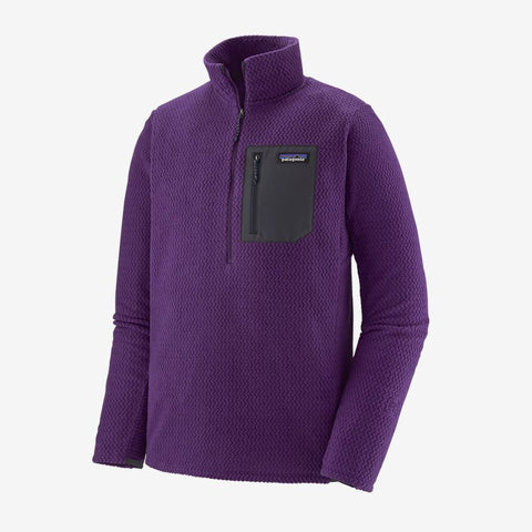 Men's Patagonia R1 Air Zip Neck - Purple