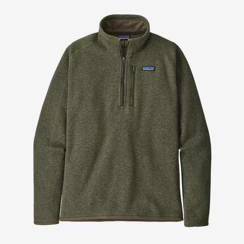 Men's Patagonia Better Sweater Quarter Zip - Green