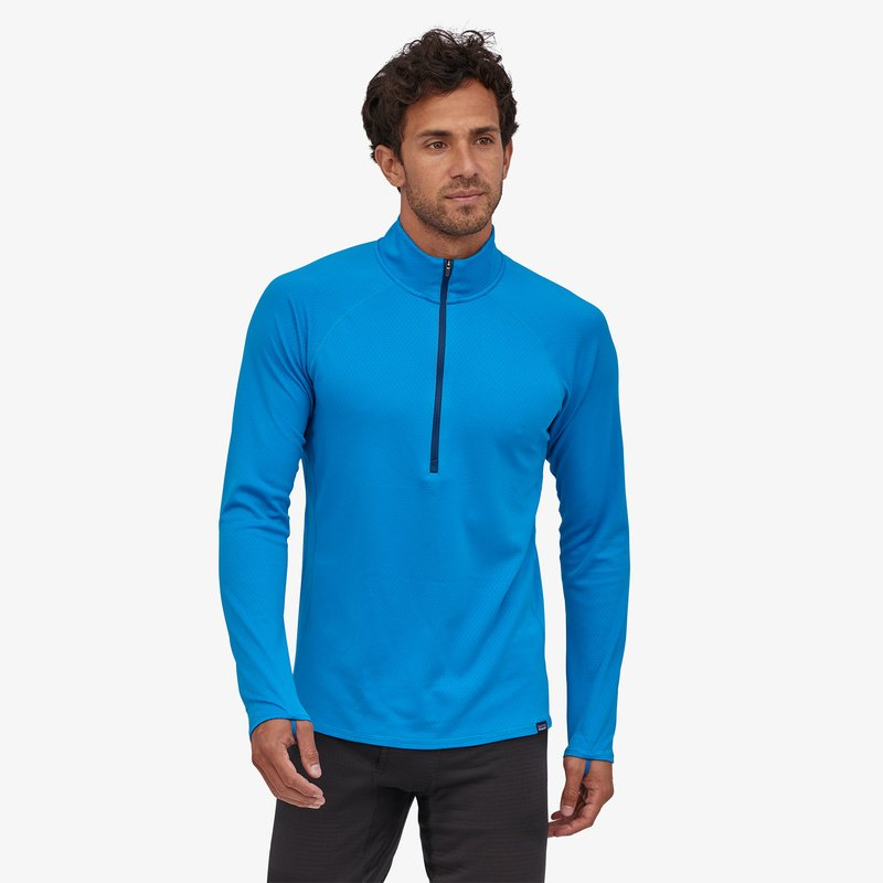 Men's Patagonia Capilene Midweight Zip-Neck - Blue