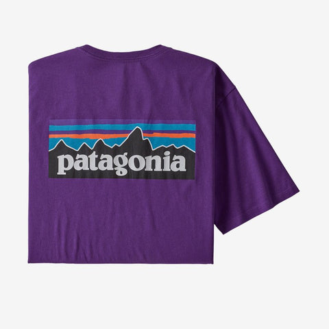 Men's Patagonia P6 Logo Organic T Shirt - Purple