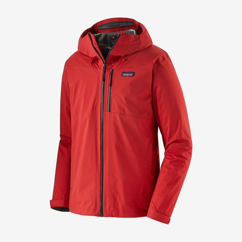 Men's Patagonia Rainshadow 3l Waterproof Jacket - Red