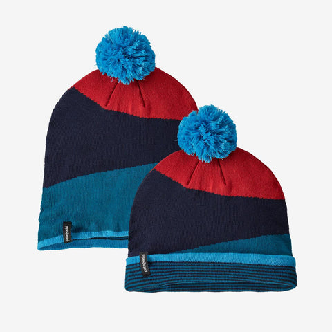 U Patagonia Lightweight Powder Town Beanie - Blue