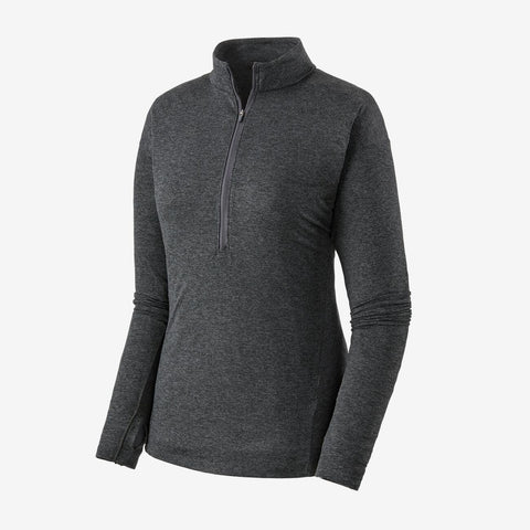 Women's Patagonia Seabrook LS Zip Neck T-shirt - Grey