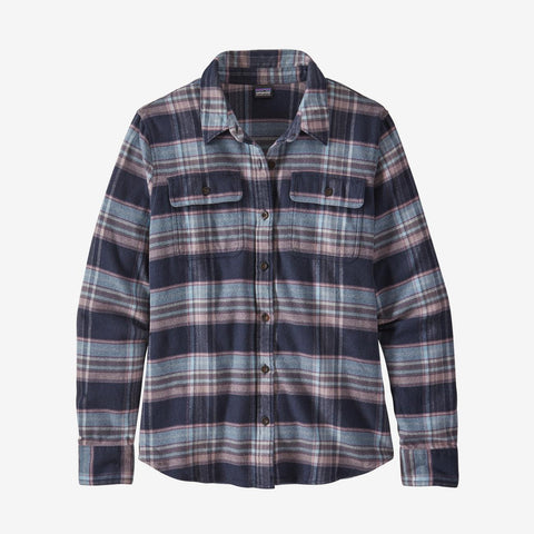 Women's Patagonia Fjord Flannel LS Shirt - Blue