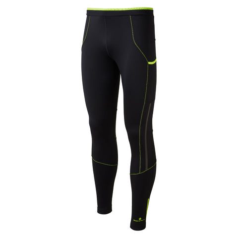 Ronhill Pants Men's Stride Stretch Tights Black/Fluo Yellow