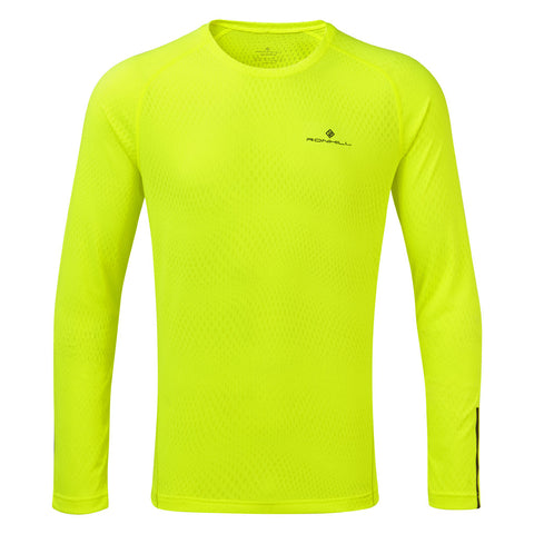 Ronhill Top Men's Stride LS Tee Fluo Yellow
