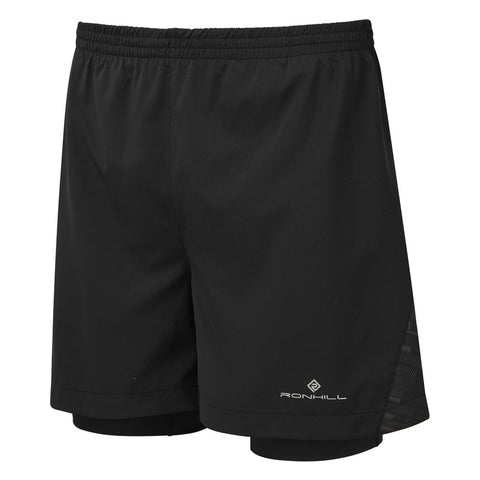 Ronhill Shorts Men's Momentum Afterlight Twin Black/Reflective
