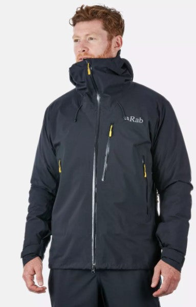 Men's Rab Firewall Waterproof Jacket - Black