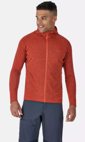 Men's Rab Nexus Hooded Fleece Jacket - Orange