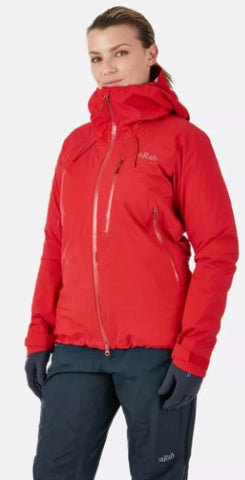 Women's Rab Firewall Waterproof Jacket - Red